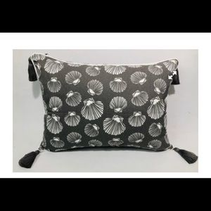 2 grey shell cushion covers